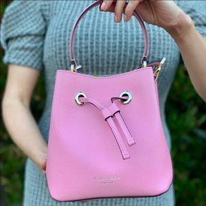 Kate Spade Pink Leather Bucket Crossbody Purse